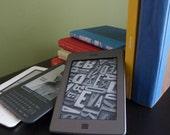 CUSTOM Kindle cover: Kindle 1-4, Kindle touch, Kindle Fire, Nook, E-reader, or iPad