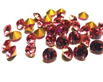 18 Rose Rhinestones, 30ss Swarovski, Loose Rhinestones, Bulk Rhinestones, Wholesale Rhinestones, Loose Crystals