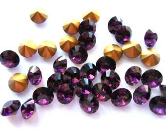 36 Amethyst 28ss Swarovski Rhinestones-Loose Rhinestones-Bulk Rhinestones-Wholesale Rhinestones-Loose Crystals