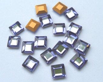 18 Tanzanite 6mm Swarovski Square rhinestones-Loose Rhinestones-Bulk Rhinestones-Wholesale Rhinestones-Loose Crystals