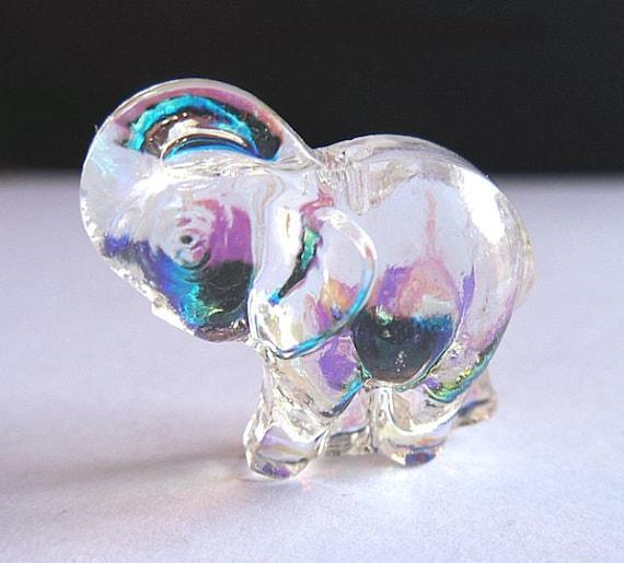 1 RARE Swarovski Pendant 20mm AB 3Dimensional Elephant