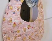 Retro 'Pink Sailor' reversible snap bib for Baby or Toddler