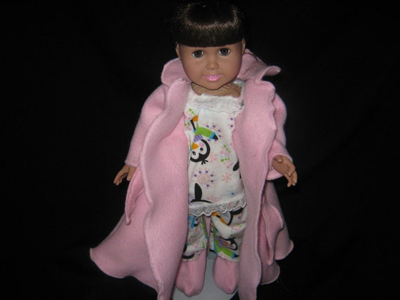 Soft Pink Robe and Pajamas for an 18 inch doll