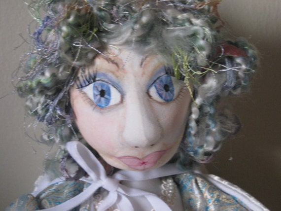Winter Maiden Doll  OOAK  Christmas or Winter display  Shipping included