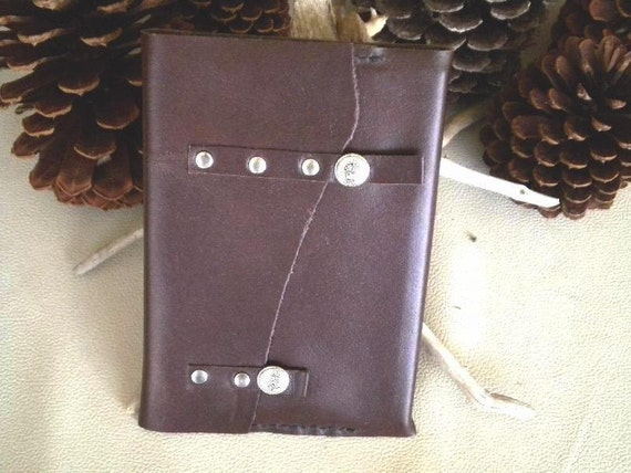 "Closeout-Handmade Leather Wrap Journal with Hard Cover ""Believe"" Insert-Was 14.95-Now 10.00"