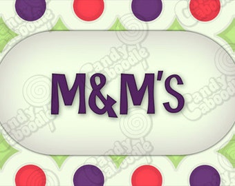 Printable Candy Buffet Labels - Retro