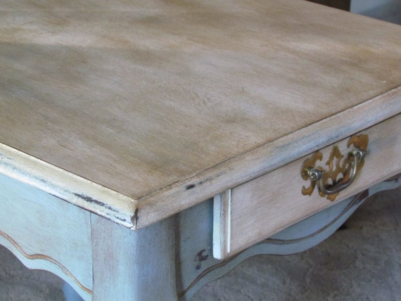 French Blue End Table