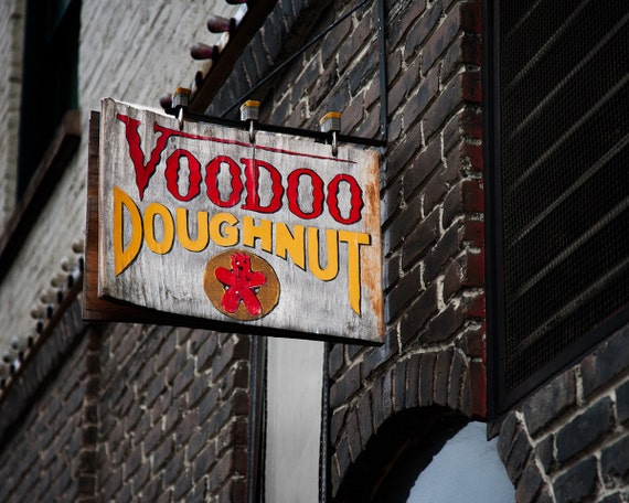 Portland Oregon photo - Voodoo Doughnuts art - Urban photography print - Travel photography - Portland wall decor - Voodoo Donuts Portlandia