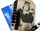 Travel Card Wallet,  Travel pass sleeve, Card holder, Billfold or Luggage Tag with Movie Maid image