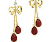 FREE SHIPPING SALE New arrival Ribbon vintage earrings