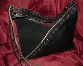 Trissino Leather and Suede Shoulder Bag
