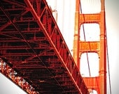 Golden Gate Bridge San Francisco photography orange architecture - Under the Golden Gate 5x7
