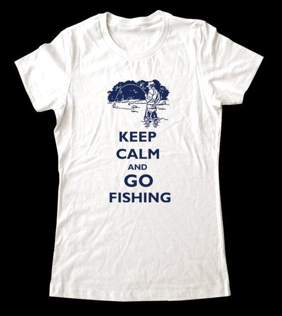 Keep Calm and Go Fishing T-Shirt - Soft Cotton T Shirts for Women, Men/Unisex, Kids