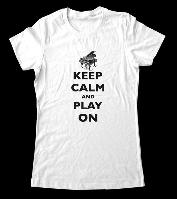 Keep Calm and Play On T-Shirt - Soft Cotton T Shirts for Women, Men/Unisex, Kids