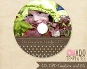 DVD CD Label Template - PSD Photoshop Templates for Photographers - B703