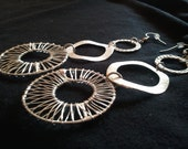 Tri-circle dangle earrings