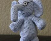 Gerald, Light Blue Elephant, Crochet Doll/Figure