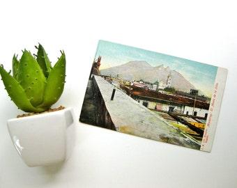 Mexico Postcard Vintage Republique Mexicaine Tarjeta Postal Carte Postale Universelle Unused Monterrey El Monte De La Silla