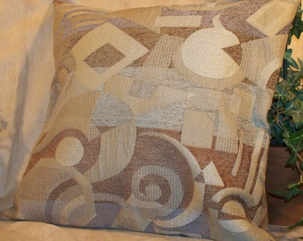 "SALE 16"" x 16"" Modern Print in Earth Tones Decorative Pillow Cover"