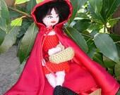 Amigurumi Red Ridding Hood Doll / free shipping