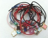 Sale -25% Set of 10 different, trendy, funky, colorful, plastic bracelets