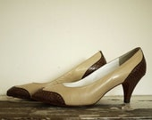 Vintage Heels // Bally France // Size 4.5 // Leather