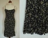 Vintage 90s Flippy Dress // Ditsy Floral Print (XS extra small)