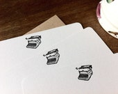Typewriter Letterpress Notecards - Set of Eight