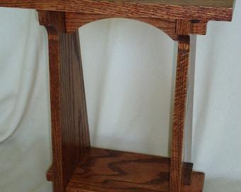 Handmade  Arts & Crafts Style Oak Table