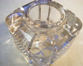 Vintage INKWELL GLASS  Box Style