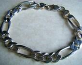 Unisex Sterling Silver Link Bracelet