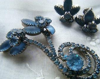 Vintage Brooch and Clip on Earrings Set