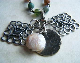 Coin Pearl Necklace RePurposed Recycled UpCycled