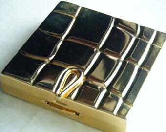 COMPACT MIRROR Goldtone Vintage