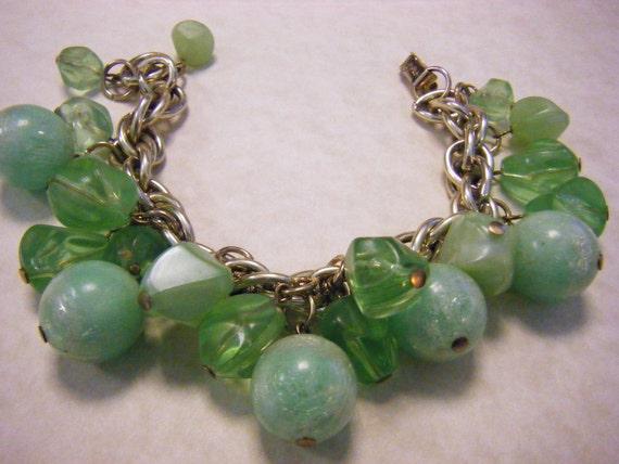 Bracelet Vintage CORO Mint Green Beads