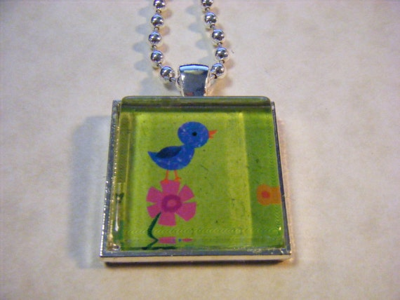 Bird 1 Necklace with Ball Chain