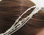 Bridal Headpiece 4-Strand Swarovski Crystal