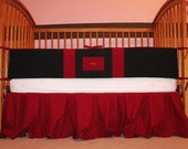 Baby boy crib/toddler bedding set Arkansas Red Black