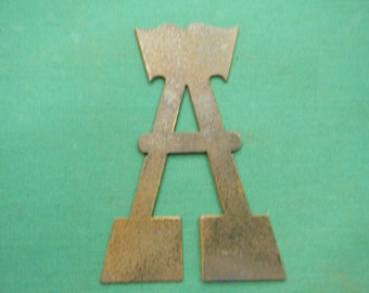"""FREE SHIPPING 5"""" Rusted Rustic Metal Letters A-Z"""