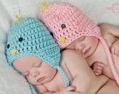 Crochet Baby Chick Hat Twins Set