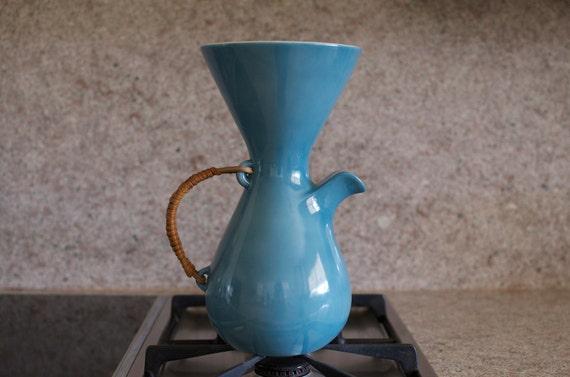 Rare Kenji  Fujita for Freeman Lederman Ceramic Coffee Pot/Pitcher - Lagardo Tackett Era