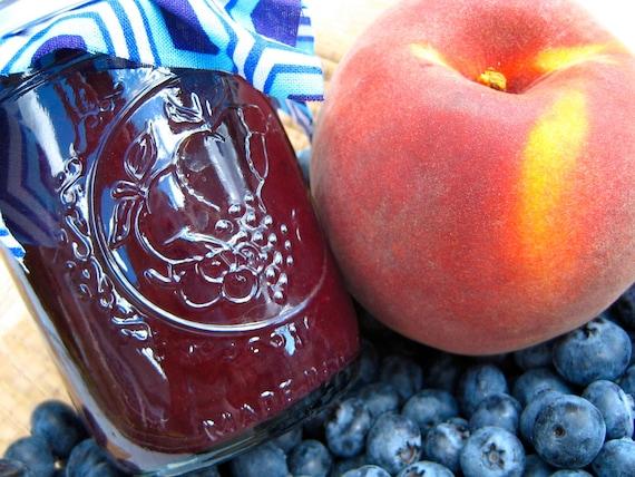 Homemade Blueberry Peach Jam (4oz)