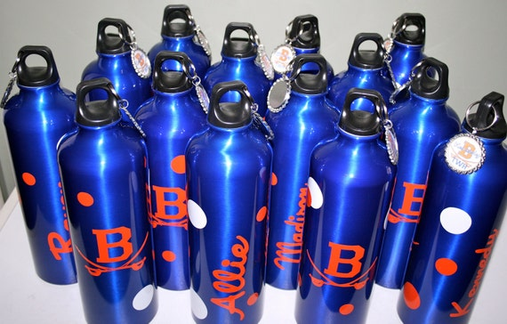 8 Custom Order Lady Golf water bottles personalized