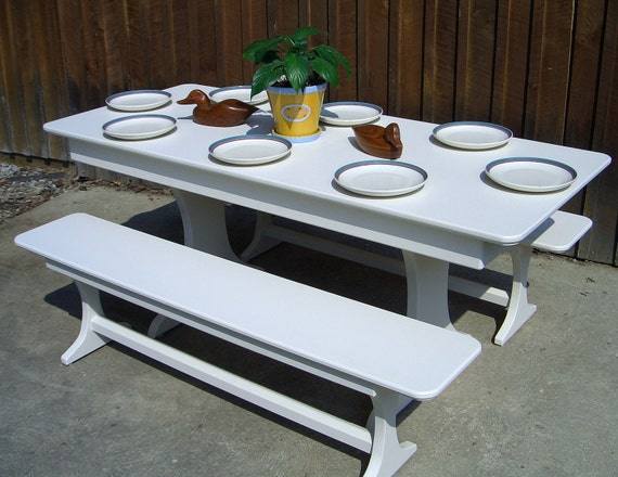kitchen picnic table with benches