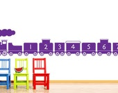 Children Wall Decal Wall Sticker NUrsery decal - 1 to 10 number Train  - 24