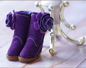 Aubergine - Handmade Suede Boots and Accessory Set for Blythe