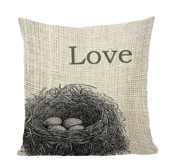 Our Love Nest Digital Download, Burlap Fabric Transfer  Text Iron On Pillows Totes Tea Towels ,Our Love Nest, Clip Art Word Graphic 5031