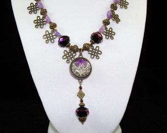 Pansy Pendant Necklace
