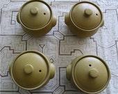 Denby, Ode, covered soup bowls