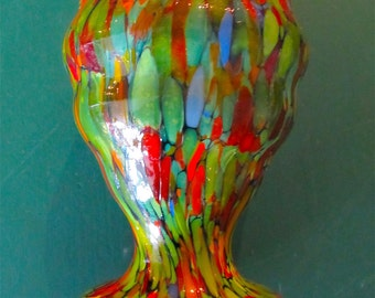 End Of Day Glass Vase In Vibrant Colors